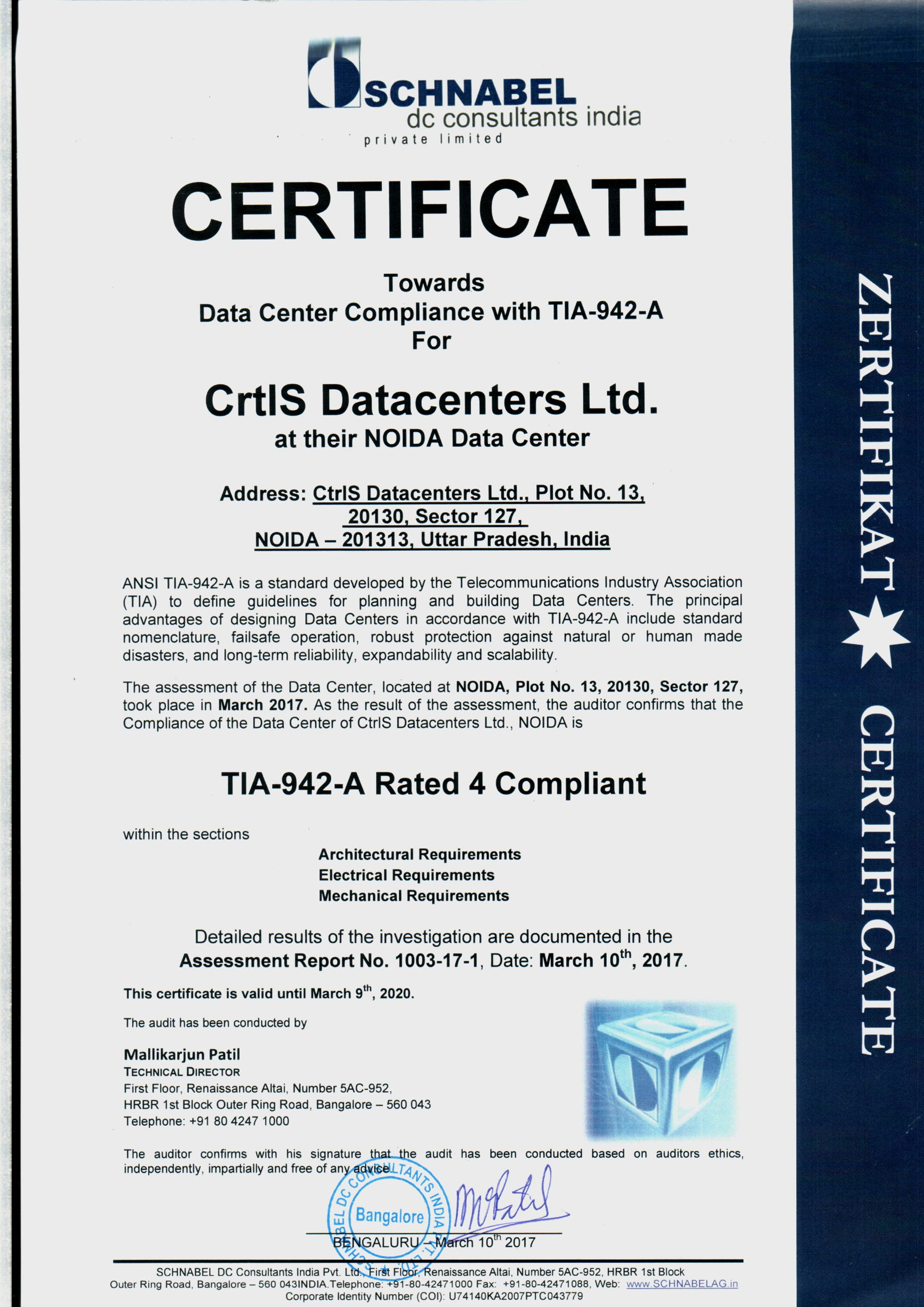 Certifications ctrls awards tier 4 noida 1betcityfo Choice Image